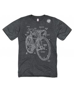 Adult Bike Diagram T-Shirt