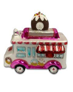 Glass Food Truck Ornament