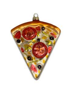 Glass Pizza Ornament