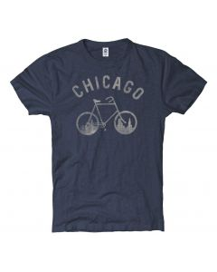 Adult Chicago Skyline Bicycle T-Shirt