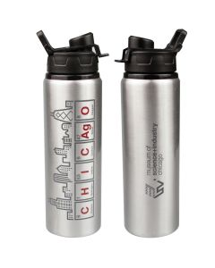 Chicago Skyline Elements Water Bottle