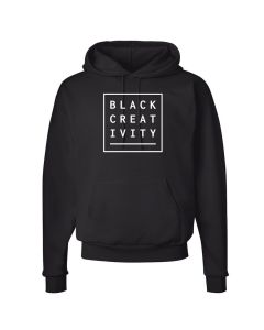 Unisex Black Creativity Fleece Hoodie