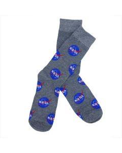 Adult Gray NASA Meatball Socks