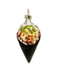 Glass California Roll Ornament