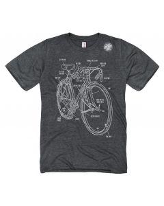 Adult Bike Diagram T-Shirt
