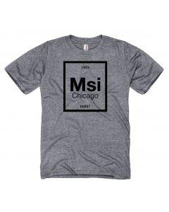 Adult MSI Chicago Zip Code T-shirt
