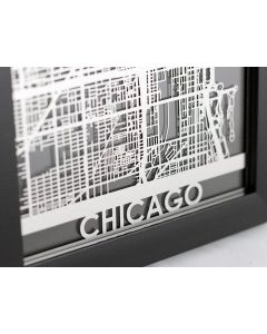 Chicago Stainless Steel Map
