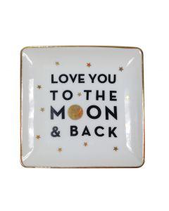 I Love You to the Moon & Back Trinket Plate